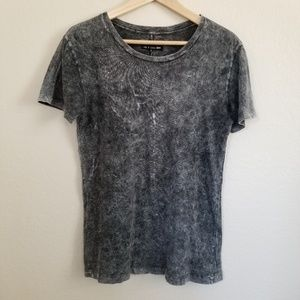 Rag & Bone Acid Wash Gray T Shirt S